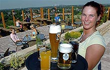Biergarten im alpincenter Bottrop